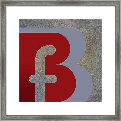 Your Name - B F Or F B Monogram Framed Print