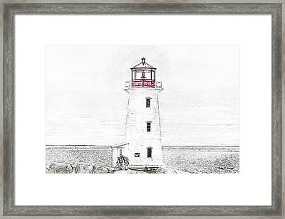 You're My Beacon Peggy's Cove Lighthouse Framed Print by Betsy Knapp