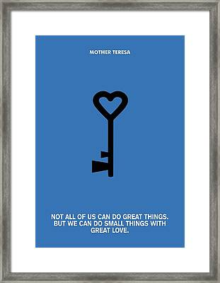 You're Never A Loser Mike Ditka Motivational Quotes Poster Framed Print by Lab No 4 The Quotography Department
