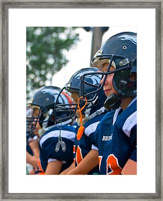 Youth Football Framed Print