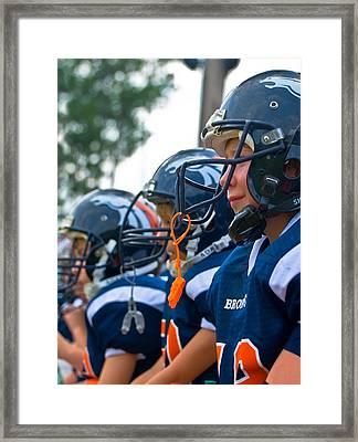 Youth Football Framed Print by Susan Leggett