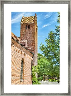 Framed Print featuring the photograph Ystad Monastery In Sweden by Antony McAulay