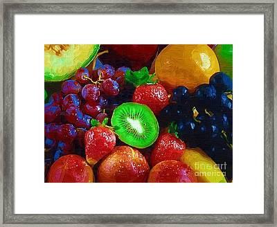 Yummy Fresh Fruit Framed Print by Deborah Selib-Haig DMacq