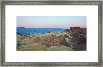 Framed Print featuring the photograph Zabriskie Point by Catherine Lau