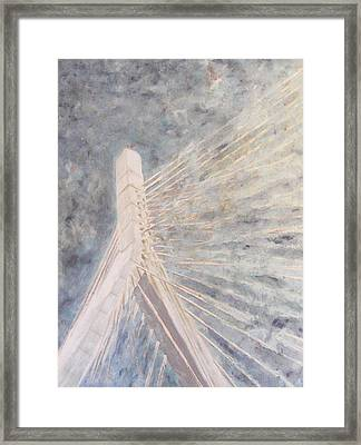 Zakim Sky Framed Print by Romina Diaz-Brarda