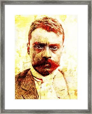 Zapata Framed Print by J- J- Espinoza