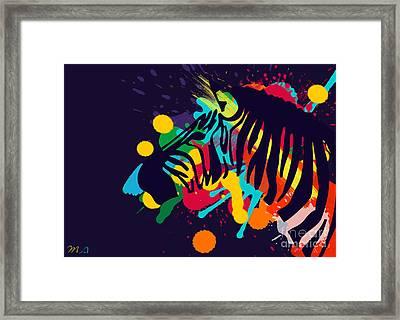 Zebra Framed Print by Mark Ashkenazi