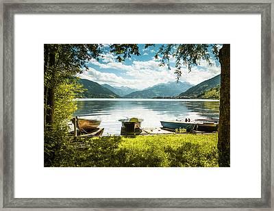 Zeller See, Prielau, Salzburg, Austria Framed Print by Alex Saunders