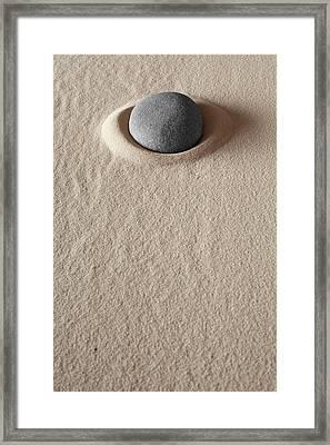 Zen Meditation Stone Framed Print by Dirk Ercken