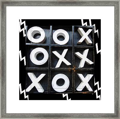 Zig Zag Checkers Framed Print