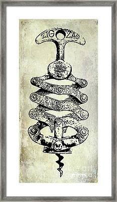 Zig Zag Corkscrew Framed Print by Jon Neidert