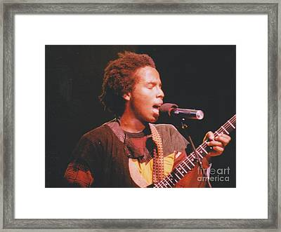 Ziggy Marley Framed Print by Mia Alexander