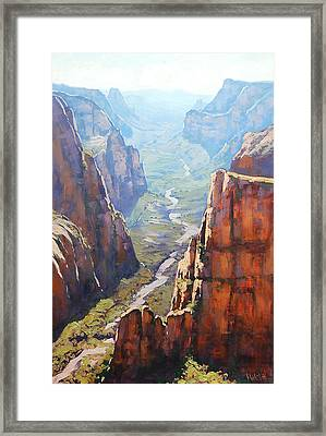 Zion Canyon Framed Print by Graham Gercken