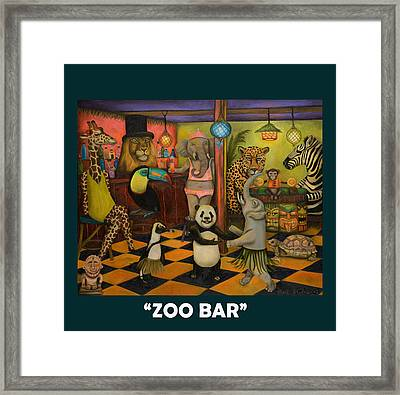 Zoobar Framed Print by Leah Saulnier The Painting Maniac