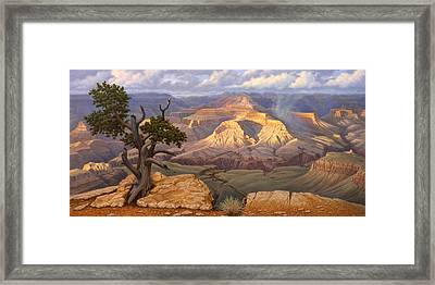 Zoroaster Temple From Yaki Point Framed Print