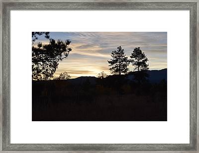 Sunrise Back Country Co Framed Print