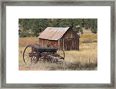 Seed Tiller - Barn Westcliffe Co Framed Print
