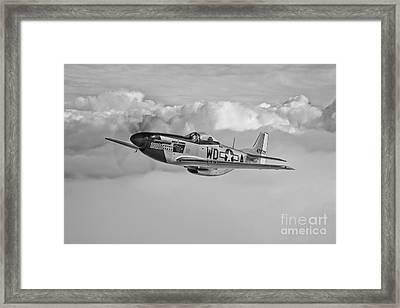 A P-51d Mustang In Flight Framed Print