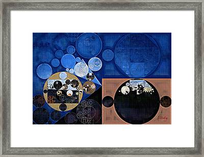Abstract Painting - Oxford Blue Framed Print by Vitaliy Gladkiy