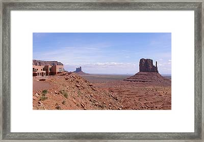 America - Big Indian And West Mitten Butte Framed Print