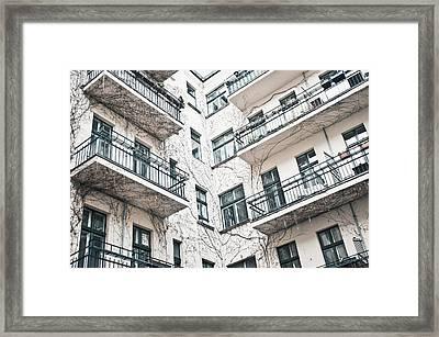 Apartments Framed Print by Tom Gowanlock