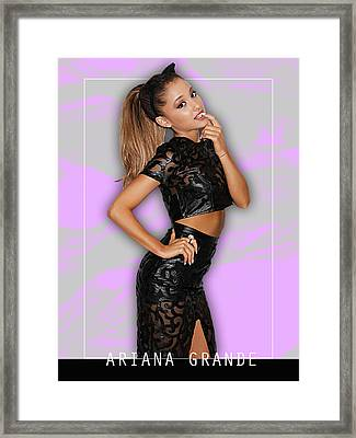 Ariana Grande Collection Framed Print
