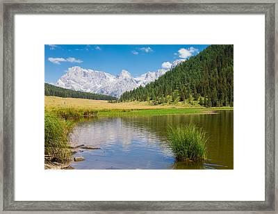 Beautiful Alpine Panorama Framed Print by Davide Guidolin