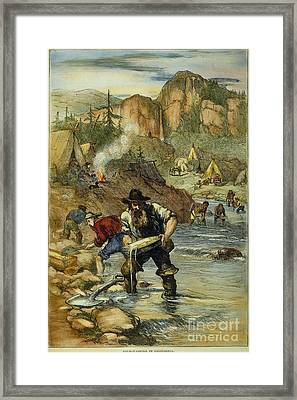 California Gold Rush Framed Print