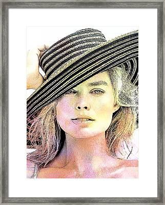 Celebrity Margot Robbie Framed Print by Best Actors
