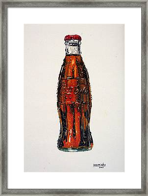 10 Cent Coke Framed Print by Duncan  Way
