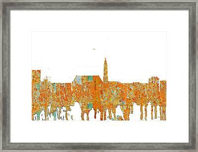 Cheyenne Wyoming Skyline Framed Print