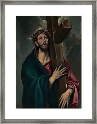 Christ Carrying The Cross Framed Print