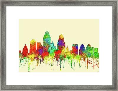 Cincinnati Ohio Skyline  Framed Print