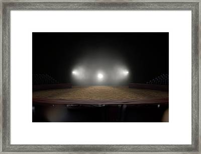 Circus Ring Empty Framed Print by Allan Swart