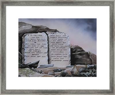 10 Commandments Framed Print by RJ McNall