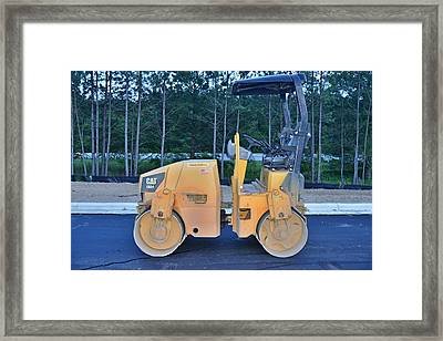 10 - Steamroller - Construction Equipment Photos Series  Framed Print by Matt Plyler