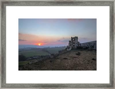 Corfe Castle - England Framed Print by Joana Kruse