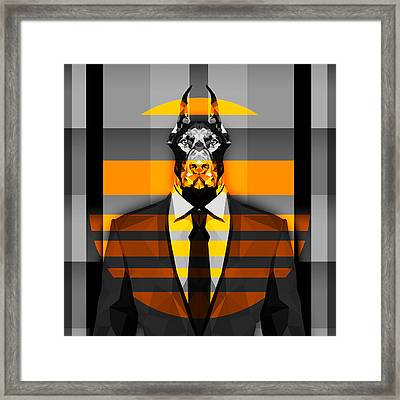 10 Doberman Framed Print by Gallini Design