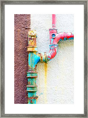 Drainpipe Framed Print by Tom Gowanlock