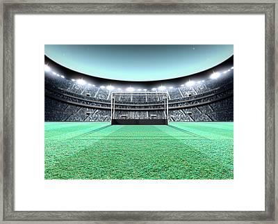 Floodlit Stadium Night Framed Print