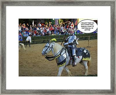 10 Foot Pole Framed Print by Brian Wallace