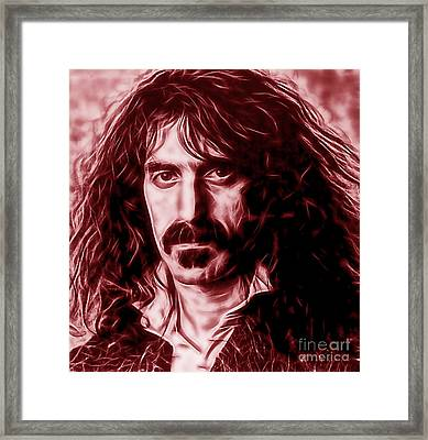 Frank Zappa Collection Framed Print by Marvin Blaine