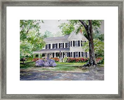 Framed Print featuring the painting Home Portrait by Gloria Turner