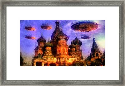 Invasion Earth Framed Print by Raphael Terra