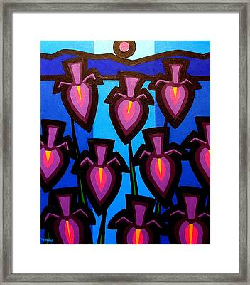 10 Irises Framed Print by John  Nolan