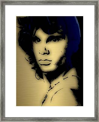 Jim Morrison Collection Framed Print by Marvin Blaine