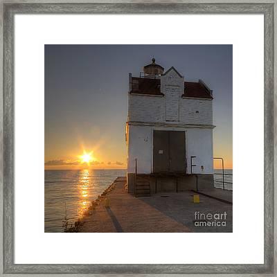 Kewaunee Pierhead Lighthouse Framed Print by Twenty Two North Photography