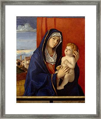 Madonna And Child Framed Print