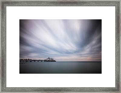 10 Minute Exposure Of Eastbourne Pier Framed Print