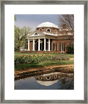Monticello, The Home Built By Thomas Framed Print by Everett